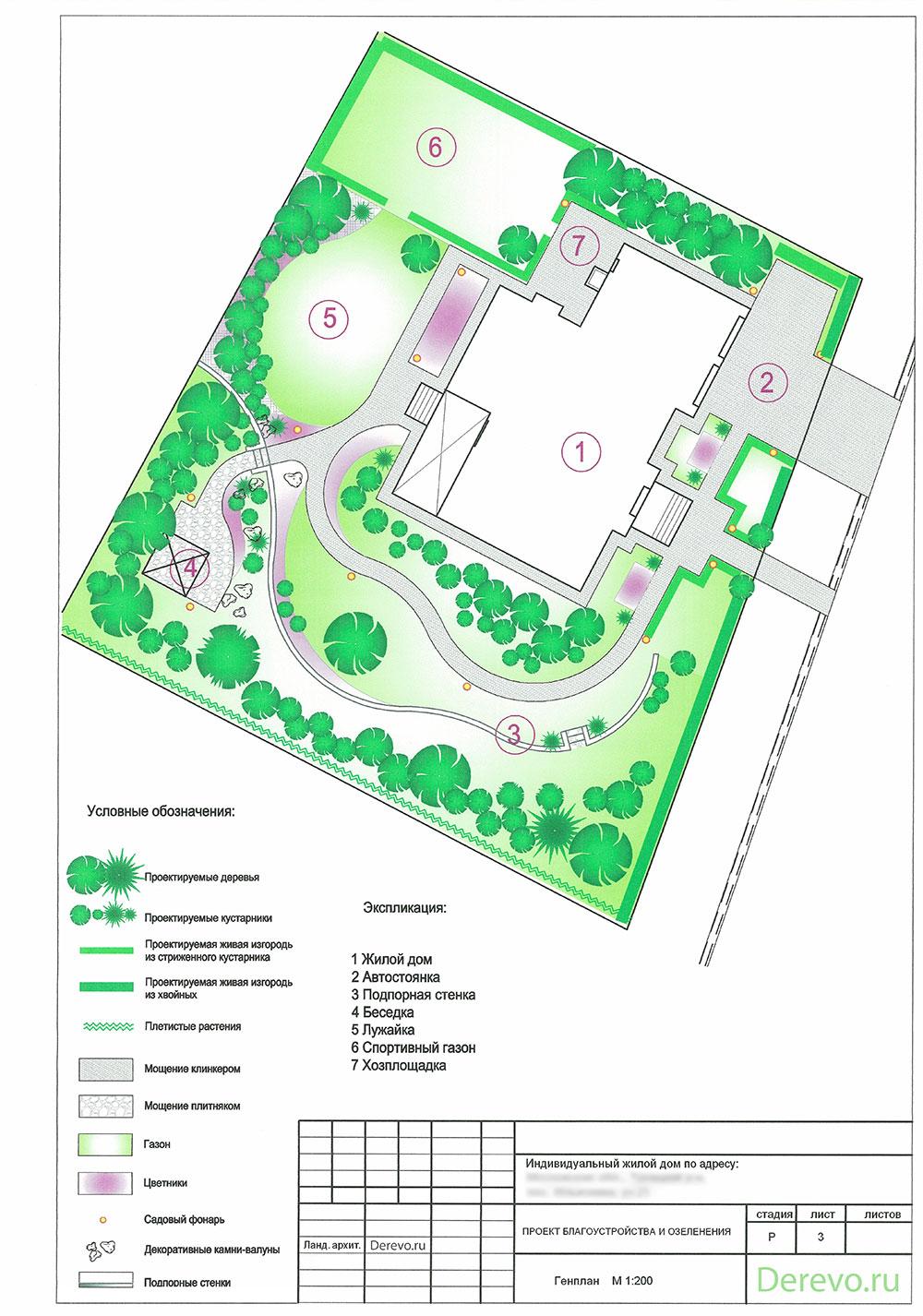 Архитектурное проектирование  Благоустройство территории
